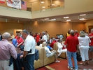 Gathering for the Red & White Dinner Cruise
