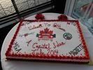 A special GT-39 cake for dessert