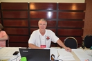 Dave Graham mans the registration table