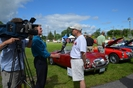 Local media coverage at the car show