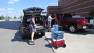 GT minus 1 day: hauling our stuff to the hotel