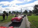 Entering the car show field