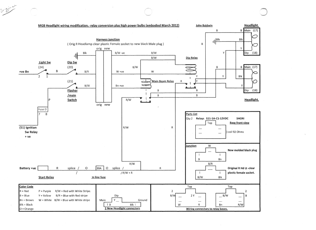 [DIAGRAM_38ZD]  Ottawa MG Club » MGB Headlights Thru Relay Modification Wiring Diagram | Ottawa Wiring Diagrams |  | Ottawa MG Club
