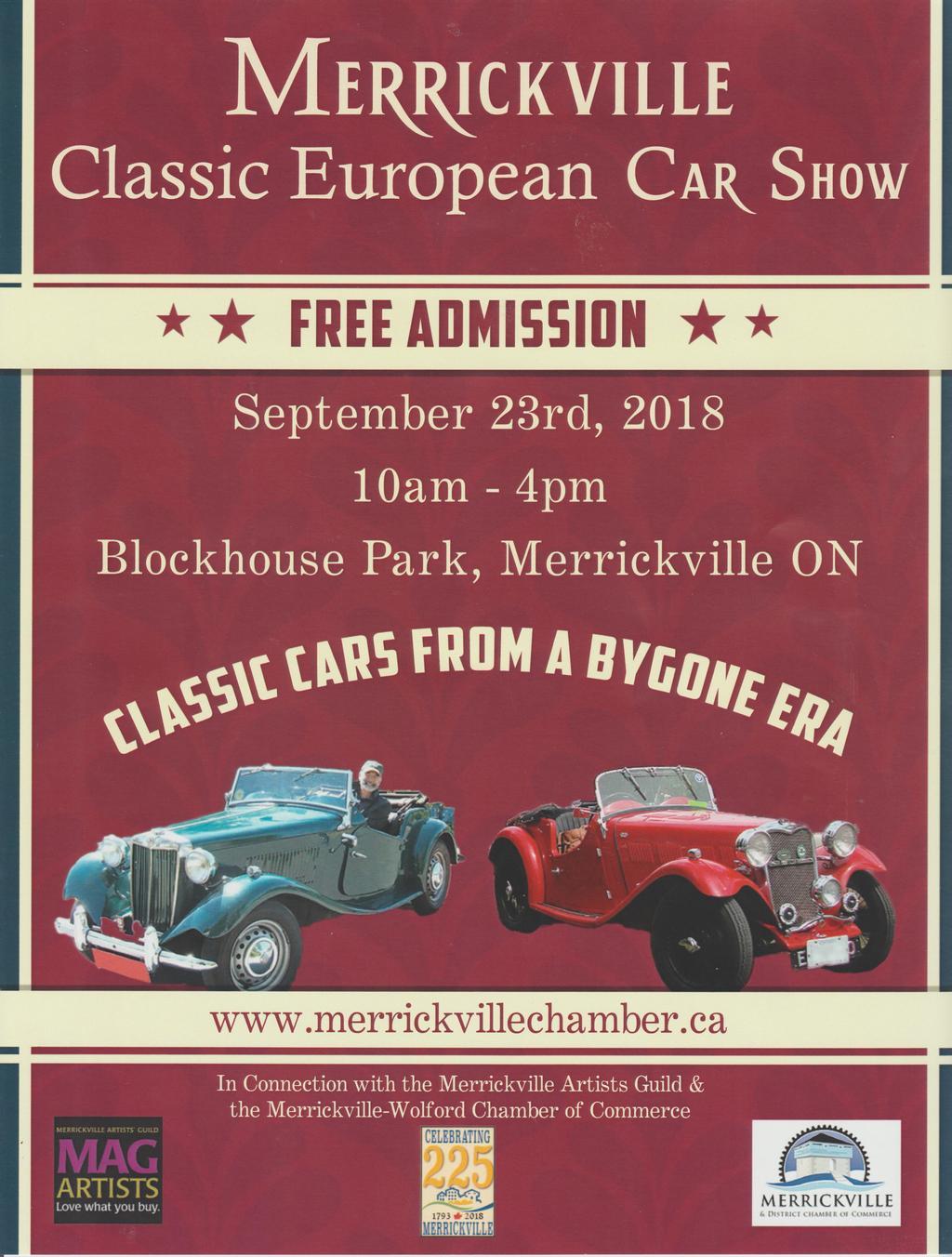 Ottawa MG Club Merrickville Classic European Car Show Sunday - September car shows